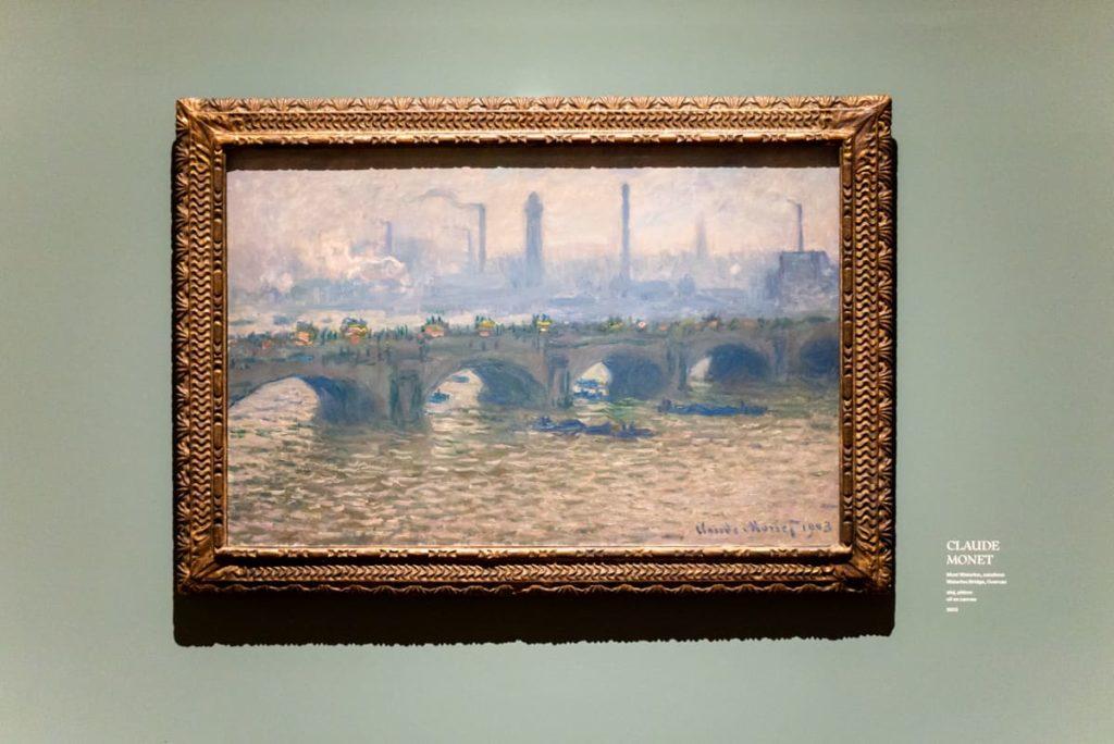 obraz Claude Moneta v Paláci Kinských